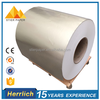 China Paper Factory Customized Silver Aluminum Foil Paper For Offset Printing
