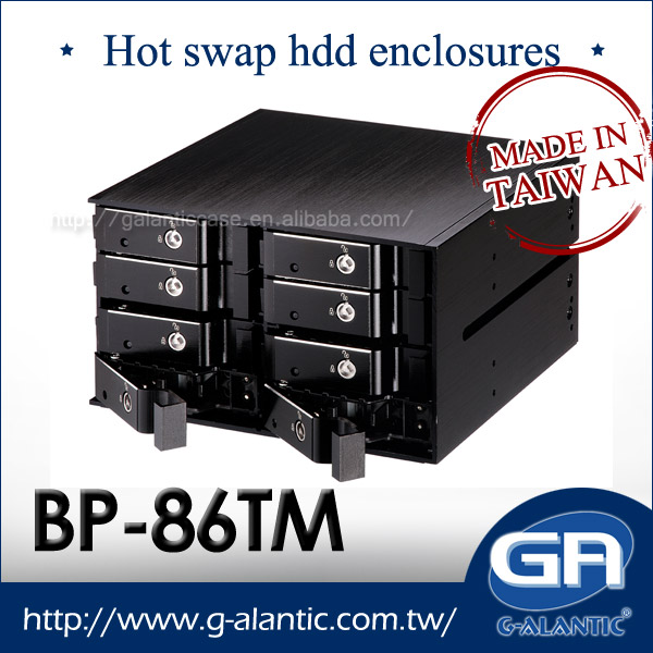 """2x5.25/"""" to 3 x3.5/"""" SAS// SATA 6.0G HDDs Aluminum Hot-Swap Cages Backplane NEW"""