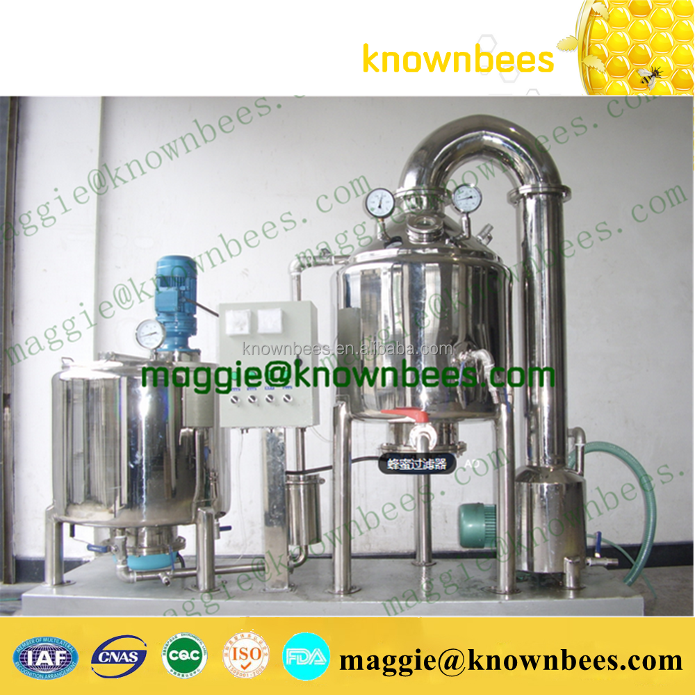1 ton NEW TYPE bee honey vacuum concentrater