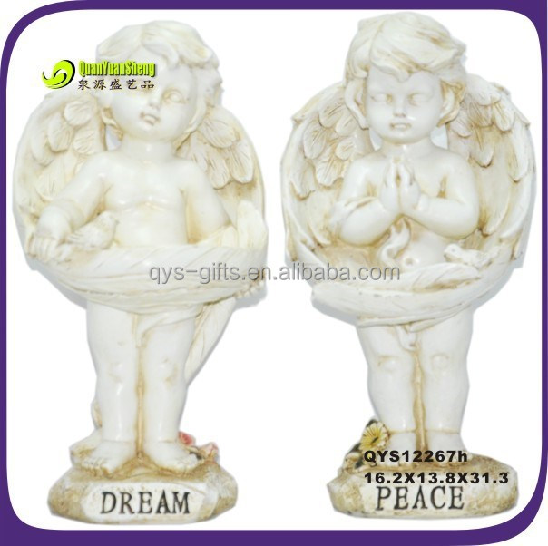 Praying outdoor yard decoraiton polyresin angel figurines craft