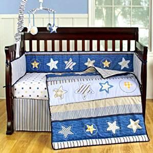 Sumersault Starry Night 6-Piece Crib Bedding Set