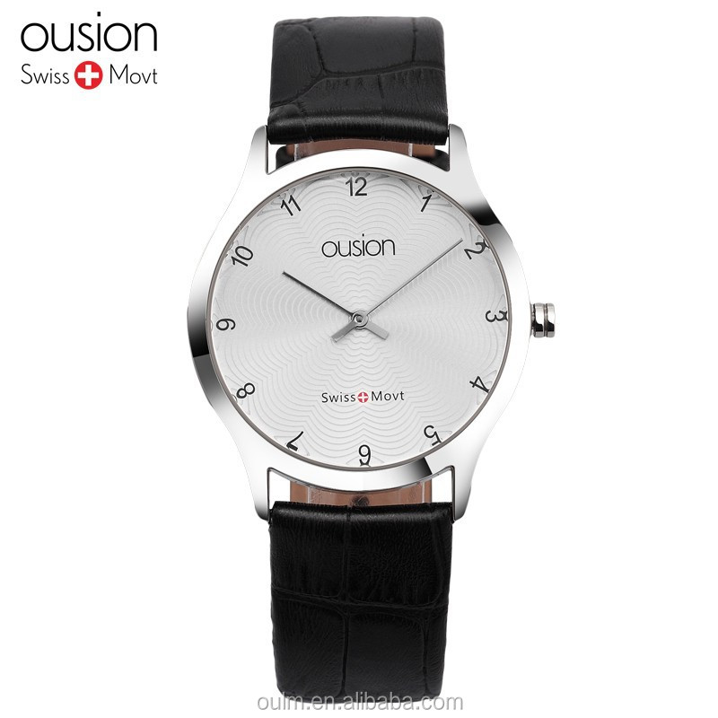 water resistant couple watch ousion watch, 2017 simple fashion watch
