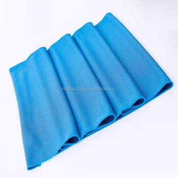 2018 Microfiber ice cool instant cooling yoga towel fabric for sport