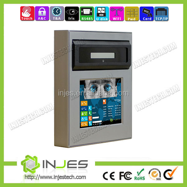 Bank Security 6.4inch Touch Screen Ethernet WIFI Precise Biometric Access Control Gate Entry eye iris recognition systems