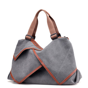 RY1161 Fashion Canvas Bag Women Handbag Patchwork Casual Ladies Hobos Tote Shoulder Bag Large Capacity Female Messenger Bags