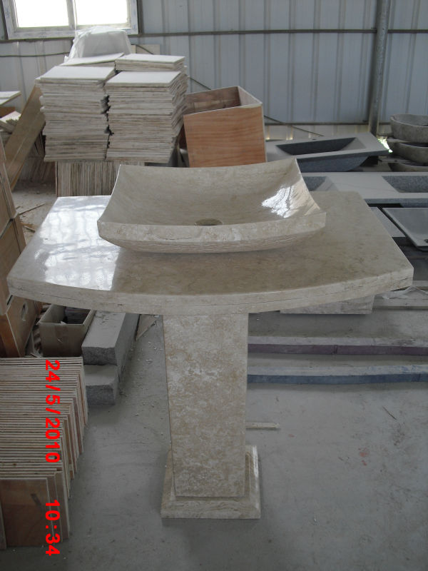 Travertine Pedestal Sink, Travertine Pedestal Sink Suppliers And  Manufacturers At Alibaba.com