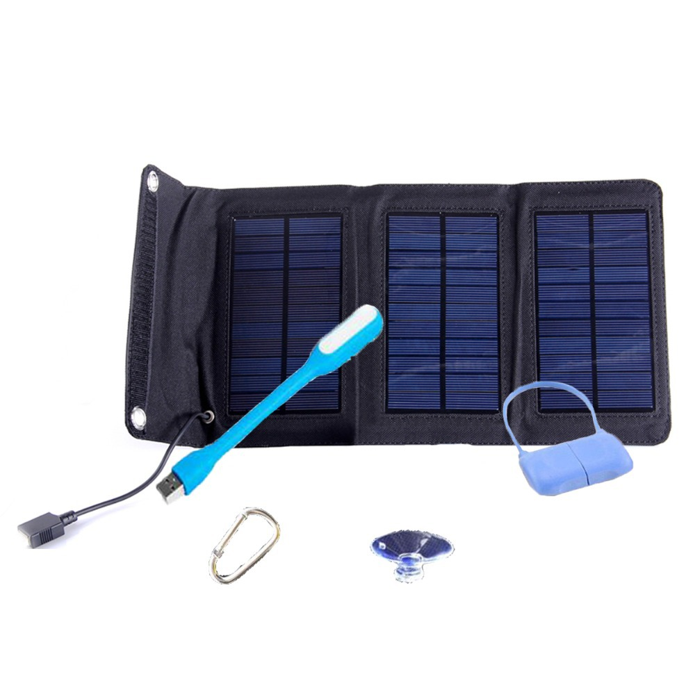 New Waterproof 5w 5.5v Polycrystalline portable floding solar panel charger for iphone,HTC,lenovo,bluetooth,camera,pad,mp3 ect