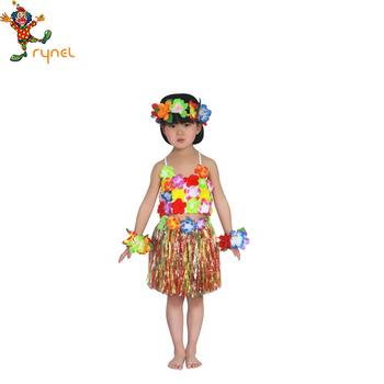 1cabfd6fe Vestido Hawaiano Hula Rendimiento Etapa Traje Para Niños Pgcc4298 ...