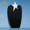 Black Crystal Award Trophy with Silver Star