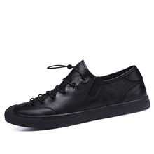 Hot style go together British style leather black flat men's skid wear-resistant breathable leather shoes leisure shoes