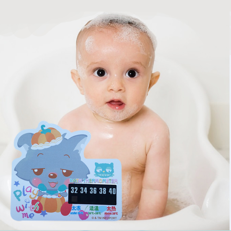 Little Walf Cartoon LCD Bath Thermometer Infant Baby Bath Water Temperature Digital Thermometer Plastic Temperature Thermometer