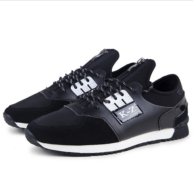 55d8dd665f08 Get Quotations · Spring and autumn new fashion stitching leather shoes  British style round head sport casual shoes y