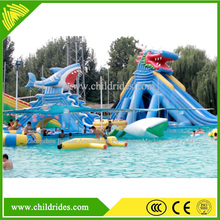 super fun amusement game park cheap inflatable water slide