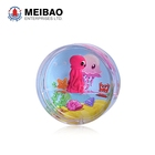 Plastic round shaped printed 3d magnet liquid fridge floater with OEM background imprint