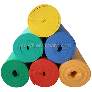 Green eva foam mats sheet roll flexible soft plastic thin foam roll foam padding roll for crafts