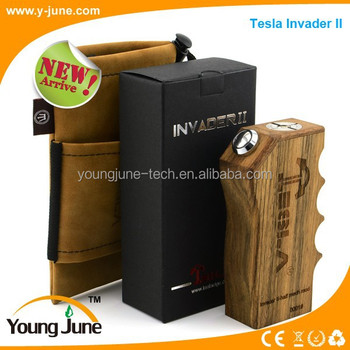 2015 new recoverable fuse Tesla invader mod_350x350 2015 new recoverable fuse tesla invader mod e cigarette wood box Cloud Chasers Mechanical Box Mod at readyjetset.co