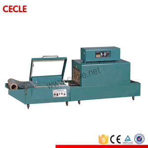 Made in china semi auto shrinkable film packing wrapping machine