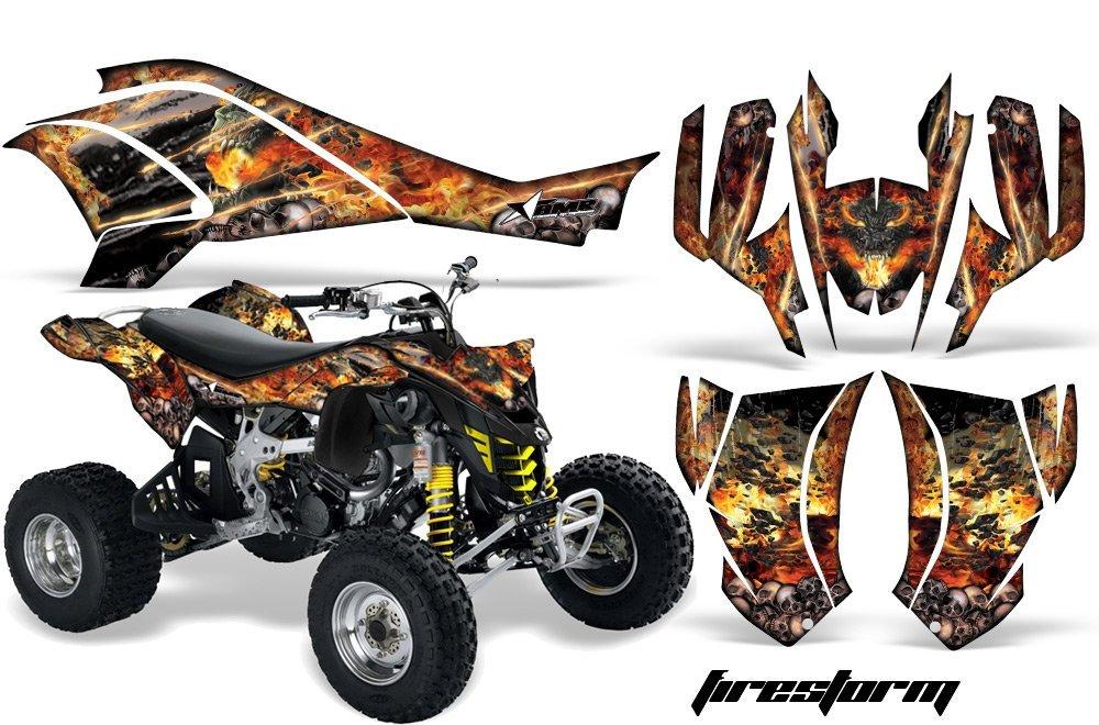 AMR Racing Graphics Can-Am DS-450 2008-2016 ATV Vinyl Wrap Kit - Firestorm Black