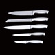 wholesale new product stainless steel hollow handle 5pcs kitchen knife set for kitchen