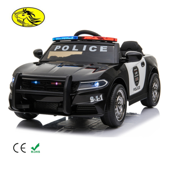 Xuma police themed kids toys electric vehicles children car kids ride on toy car with latest portable carrying rod 2019 new