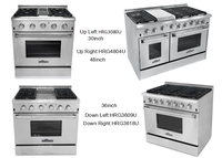 Hyxion freestanding 48'' Gas Range With Gas Griddle