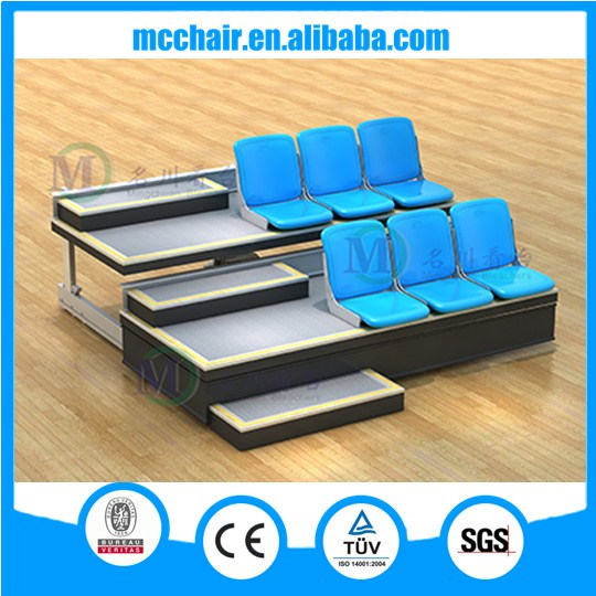 2016 Athens basketball Gym Durable Premium Used Hot Selling Classic Grandstand indoor bleacher