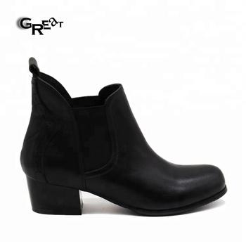 f44b4fd793b Chelsea Boots Elastic Chunky Heel Booties Ladies Black Cowboy Boots Shoes  Ladies Heel Shoes - Buy Ladies Heel Shoes,Chelsea Boots,Ladies Cowboy Boots  ...