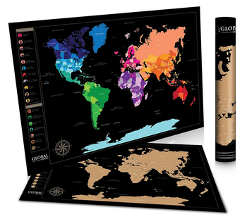 Large Laminated Us Map.Scratch Off World Map With Us States Track Travel Routes Laminated