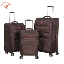 New fashionable rolling wheels trolley suitcase brown luggage set