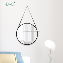 Round rope wall mirror