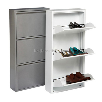 China Durable Shoe Cabinet Mirror Glass Hallway Shoe Chest Steel Shoe Box  Storage Drawers For Sale