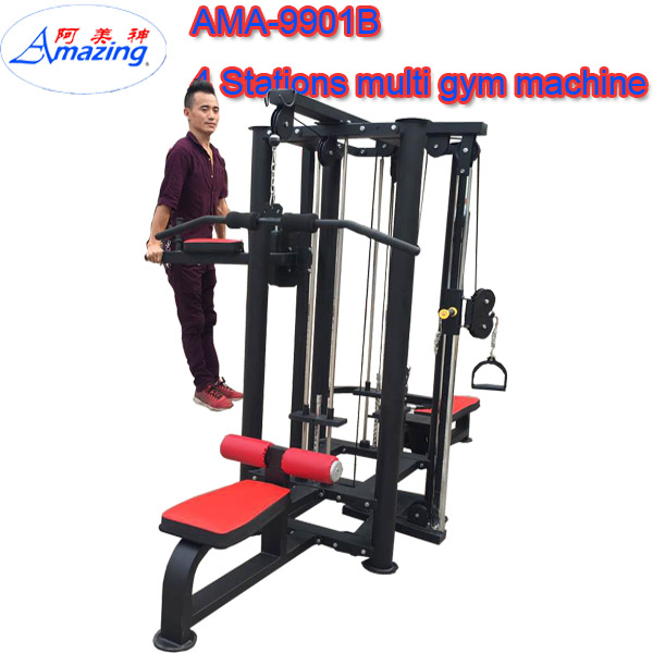 Commercial multi gym/ Multi 4-station 3 groups equipment Strength Exercise Machine 3 people Home Gym