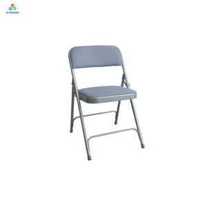 Strong Metal Frame Conference Upholstered Folding Chairs With Soft Seat Pad