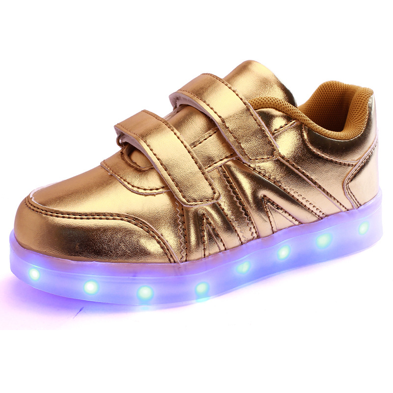 Free Shipping 2016 Spring Lights Usb Charger Light Children Shoes LED Chaussure Enfant Luminous Sneaker Kids Shoes A35