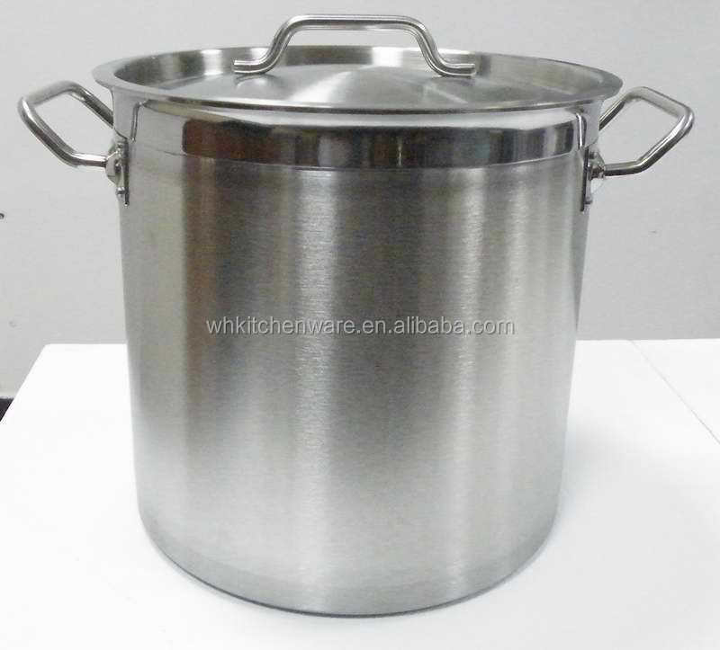 Different Capacity Commercial Stainless Steel Kitchen Equipment Used With Induction Cooker Heavy Duty Electric Stockpot