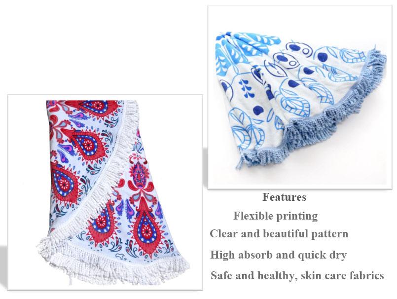 Personalisierte runde mikrofaser strand handtuch