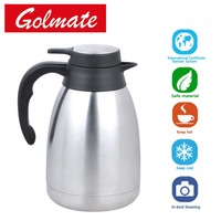 Double wall stainless steel vacuum thermos flask 1.0l
