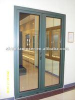 Moser wood door with aluminum cladding, Exterior double door, entry door
