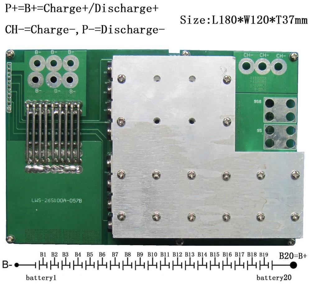 10 S 30 A Batterie au lithium BMS Carte De Circuit Imprimé protection board 3.7 V LI-ION Cellule sécurité de charge