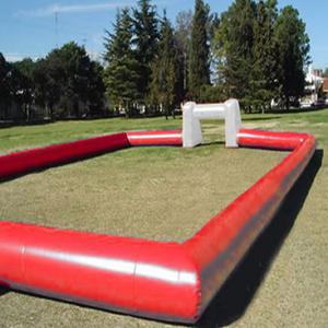 Red Movable Large Inflatable Football Field,Outdoor Inflatable Soccer Field for Soccer Bubble