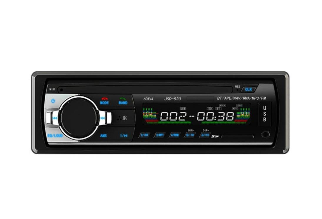 Paymenow Bluetooth MP3 Music Player Radio Single DIN In Dash Car Stereo Audio Receiver FM Radio/TF/ USB/ AUX-in with Remote Control