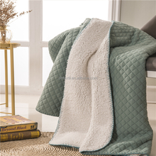 Free sample New Design sherpa fleece throw blanket