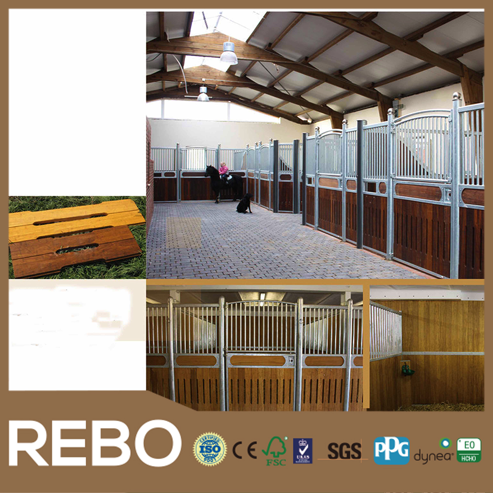 Europe Market Hot Sale Strand Woven Bamboo Horse Stable Panel with T&G