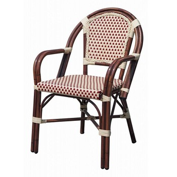 outdoor stackable plastic pe rattan bamboo looks wedding chair