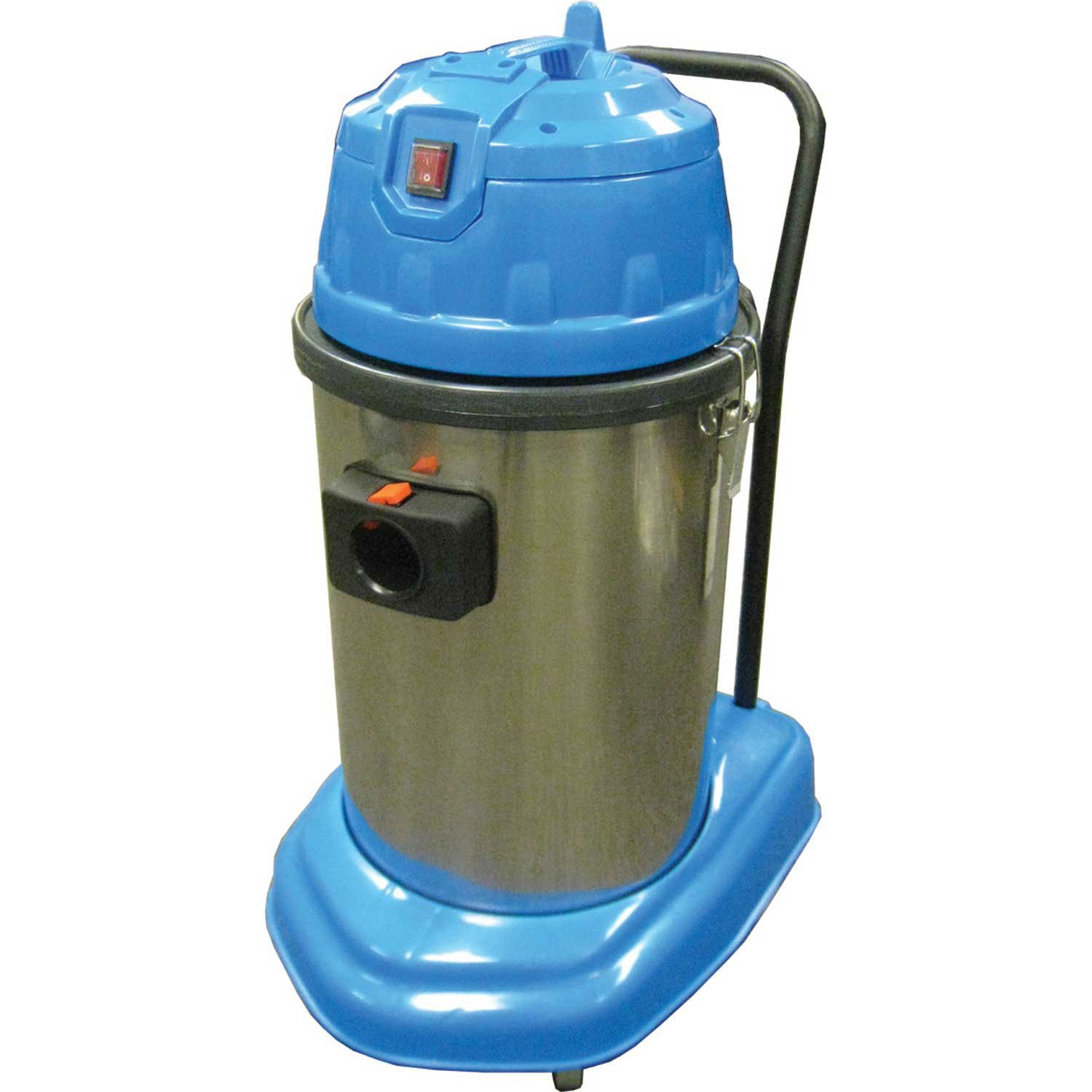 Perfect Products 7 Gallon Wet/Dry Vacuum W/5-Piece Tool Kit, Stainless/Blue