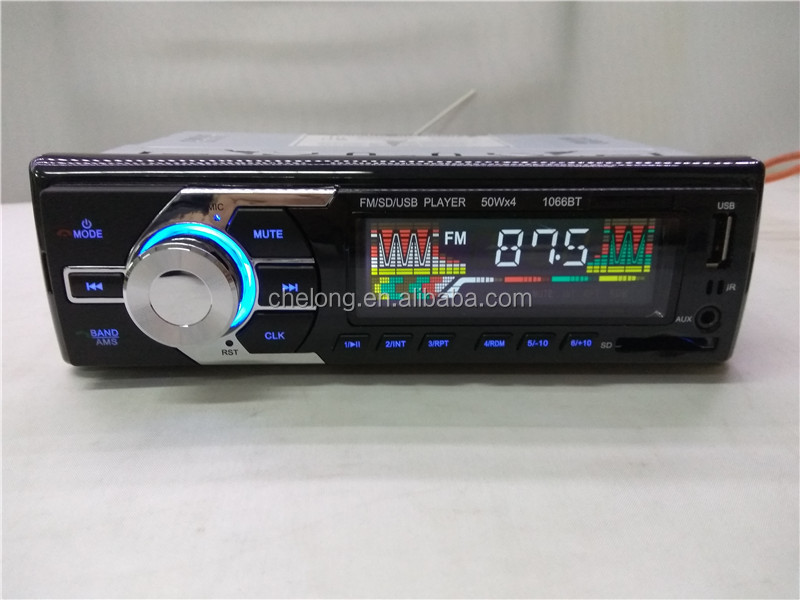 Car Audio Stereo In Dash 12V 1 DIN FM Radio Car MP3 Player with bluetooth 1066BT