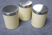 Canisters 3-Pc Set Kitchen Storage Containers Food Glass Jars Coffee Sugar Bins
