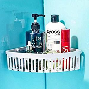 Space Aluminum Bathroom Thickening Solid Single Tier Corner Shelf Bath Shower Caddy Storage Holder