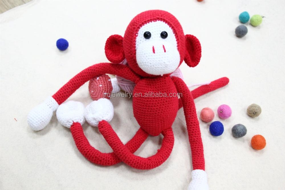Amigurumi Boneka : Diy merah monyet crochet boneka grosir crochet boneka handmade