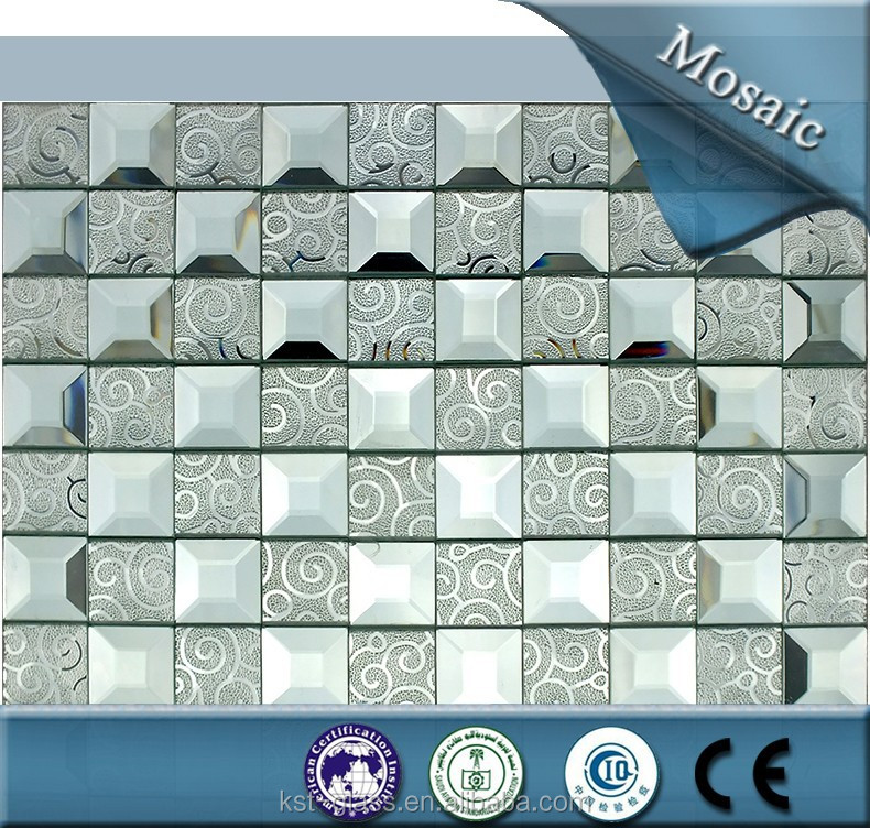 New Design!!!whites noble house flooring mirror glass mosaic